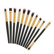 Molie 11pcs Makeup Brush Set Eyeliner Eyeshadow Cosmetic Eye Brushes