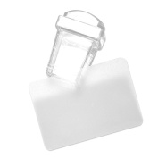 Anself Transparent Stamp Nail Art Clear Jelly Stamp Scraper Set 2.8cm