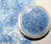 1 Jar Multi Glitzzzer # MG 75 Blue/Silver
