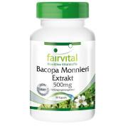 Fairvital - Bacopa Monnieri (Brahmi) Extract 500mg - 90 Vegetarian Capsules