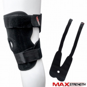 MAXSTRENGTH Neoprene Knee Support Black Patella Adjustable Elastic Brace Guard