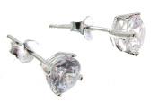 Cubic Zirconia Earrings CZ Jewellery Cubic Zirconia Stud Earrings Silver Stud Earrings 5 mms