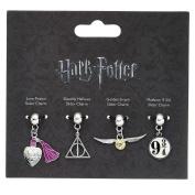 Official Harry Potter 4 Piece Multi Slider Bracelet Charm Set - Platform Snitch