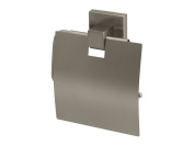Bisk Nord Range Brushed Nickel Toilet Roll Holder with Cover, Bronze, 12.5x14.5x4cm
