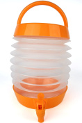 Collapsible Drinks Dispenser, Portable Water Container, 5.5 Litres Capacity, Orange