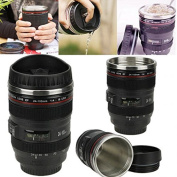 Vinmax New 24-105mm Stainless Lens Thermos Camera Travel Coffee Tea Mug Cup
