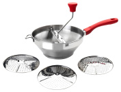 Ibili 742424 Stainless Steel Masher with 3 Discs 24 cm