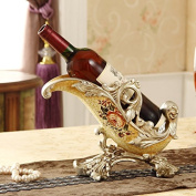 European-style luxury resin Features arts and crafts Home Decoration Wine Rack,three