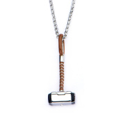 Official Stainless Steel Marvel Comics Thor Hammer Pendant with Chain - Boxed