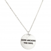 Lux Accessories Hope Anchors The Soul Refuse To Sink Inspiration Pendant Necklace.