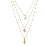 Lux Accessories Goldtone Elephants Layered Necklace