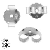 BJC® 18ct White Gold Extra Large Heavy Weight Earring Backs / Scrolls / Butterfly Backs