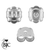 BJC® 9ct White Gold 8mm Extra Large Heavy weight Earring Backs / Scrolls / Butterfly Backs