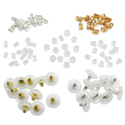 TOAOB Earring Safety Backs Earring Keepers Mix Colour For Jewellery Making Pack of 700pcs