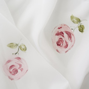 Food Cover Large Table Size Voile Hand Painted Roses Machine Washable Colourfast size 200x150 cm