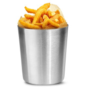 Plain Chip Cup 10 x 11.4cm - Stainless Steel Food Serving Pot