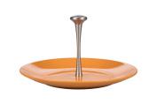 Kaleidos Classic Cheese Plate with Handle 31 cm, Ceramic, Strong, Aluminium, Orange, 31 cm x 31 cm x 16.5 cm