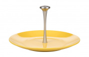 Kaleidos Classic Cheese Plate with Handle 31 cm, Ceramic, Strong, Aluminium, Yellow, 31 cm x 31 cm x 16.5 cm