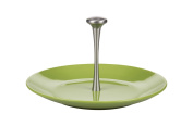 Kaleidos Classic Cheese Plate with Handle 31 cm, Ceramic, Strong, Aluminium, Green, 31 x 31 x 16.5 cm