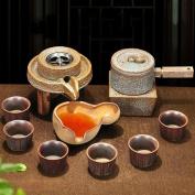 Creative stoneware set of retro Japanese Tea Set automatic Lazy stone kung fu tea filter Specials