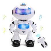 Remote Control Robot Toy Intelligent Walking RC Space Robot with Music & Light for Kids by Wishtime