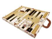 NEW! - 38cm Luxurious Map Backgammon Set - White Board