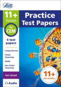 11+ Practice Test Papers (Get ahead) for the CEM tests inc. Audio Download (Letts 11+ Success)