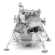 Flying Colourz Metal Stainless Steel DIY Assembly Model 3D Nano Three-dimensional Puzzle Lunar Module Silver