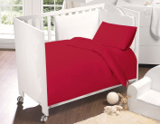 Love2Sleep DEEP RED/ BURGUNDY COT BED LUXURY EGYPTIAN COTTON COMPLETE BEDDING TODDLER SET