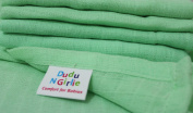 DUDU N GIRLIE Premium High Quality Baby Muslin Squares, Mint, 12 Piece
