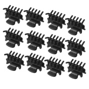 12 Pcs 2.8cm Long Black Plastic Mini Hairpin 10 Claws Hair Clip Clamp for Ladies
