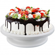 CRAVOGCake Rotatable Turntable Revolving Cake Decorating Stand Cake Stand