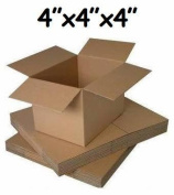 """100 x SMALL MAILING PACKING CARDBOARD BOXES 4x 10cm x 4"""" CUBE -24HR DEL"""