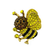 Butler and Wilson Small Crystal Bee Pin