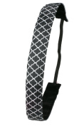 Ivybands Non-Slip Headband IVY263 Marrakesh Nights - Black/White, One Size