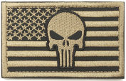 WZT Punisher American Flag Patch Military Patch / . Morale