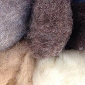 Organic Merino Felting Wool. For wet felting and Crafts 200g. Natural Shades
