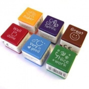 6 Teachers Stampers - School Praise/Reward Stamps - Self Inking