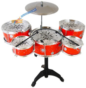 Childs Kids My First Drum Kit Play Set Drums Cymbal Musical Toy Instrument