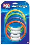 M.Y 4 Underwater Dive Rings Swimming/Diving Sinking Pool Toy
