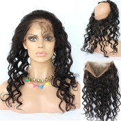Foxys' Hair 360 Lace Frontal Closure Full Lace Band Frontal 50cm Brazilian Virgin Hair Wavy Lace Frontals with Baby Hair