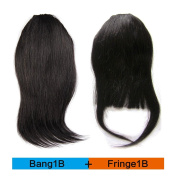 BEAUTY PLUS Clip on Bangs Real Human Hairpieces for Women Fringe And Bang