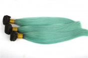 Secrect Stylist Ombre Brazilian 100 Percent Human Virgin Hair Extensions Two Tone Colour Straight Remy Human Hair Weave 3 Bundles 300g 30cm To 70cm Black Teal
