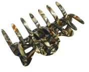 French Amie Classic Medium Handmade Onyx Celluloid Butterfly Jaw Hair Grip Claw Clip Clamp Clutcher