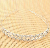 Luxury Square Rhinestone Headband Silver by Ozone48