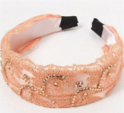 Umbrella Pattern . Hollow Lace Headband Champagne by Ozone48