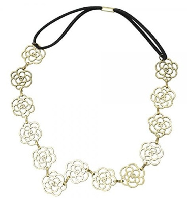 . Rose Shape Alloy Hair Band Bronze by Ozone48