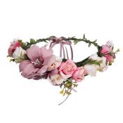 Bohemia Big Lilies Floral Crown Party Wedding Hair Wreaths Hair Bands Flower Headband