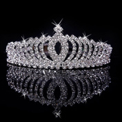 Eastlion Women's Luxury Crystal Tiara Shining Rhinestone Crown for Pageant Wedding Bridal Beauty Contest Prom Party