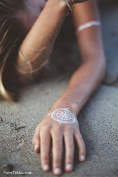 Wanderlust Collection- White Temporary Tattoos